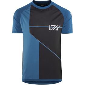 ION Traze AMP Cblock Fietsshirt korte mouwen Heren blauw/zwart
